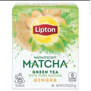 Lipton 4 pack  Magnificent Matcha Green Tea Bags, Ginger  60 total Tea Bags