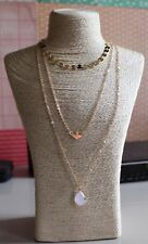 Women Gold Multi Layer Pendant necklace