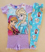 BNWT-Girls Disney Frozen Elsa & Anna Blue & Purple 3PC Pyjama Sleepwear Sets