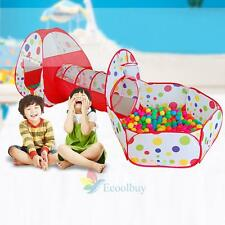 3 In 1 Indoor Kid Play Tent Play House Tent Tunnel Ball Pit Toy Christmas Gift A