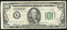 FR. 2154-K 1934-B $100 ONE HUNDRED FRN FEDERAL RESERVE NOTE DALLAS, TX SCARCE