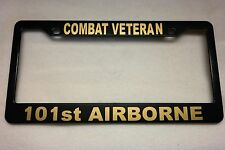 Military License Plate Frame, Polished ABS-COMBAT VETERAN/101st AIRBORNE-841409G