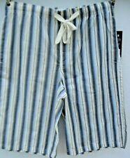 Papi Papi Men Jersey bermuda Shorts size small yellow stripe drawstring cotton