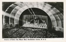 NEW YORK CITY – Radio City Music Hall Interior Real Photo PC Rockefeller Center