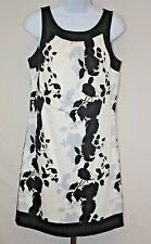 Max Rave Womens Ladies Black White Floral Sleeveless Dress Above Knee Size 6