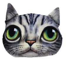 3D Fluffy Plush Fleece Funny Cat Dog Face Throw Pillow Case Cushion Cover Decor