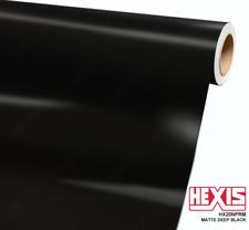 FULL ROLL Hexis Deep Black Matte Vinyl Vehicle Wrap Air Release 5'x82' HX20NPRM