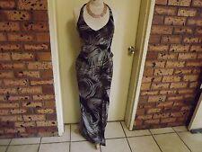 Karen Millen Stunning Full Length Halter Dress sz UK10