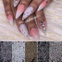 Mini Beads 3D Nail Art Decoration Sharp Back Mixed Colorful Rhinestone Nails DIY