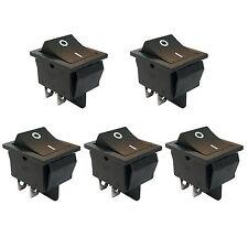 5 pcs 4 Pin DPST ON/OFF Mini Boat Car Rocker Switch Button 250V Black US Stock