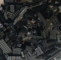 ☀️100+ BLACK LEGO PIECES FROM HUGE BULK LOT BRICKS PARTS RANDOM NO MINIFIGURES