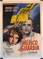 Medico De Guardia 1950 Mexican Movie Poster Art by Joseph Renau