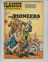 """Classics Illustrated 37/HRN 37 Fr/G (1.5) 1st ed! """"The Pioneers!"""" by Cooper 5/47"""