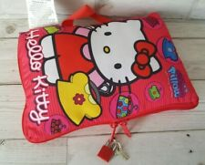 HELLO KITTY Mini My Secret Pillow Lockable Plush Case 2011 With Charm Bracelet