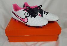 Womens Nike Tiempo Rio II FG Soccer Cleats Size 10.5 White Pink Black 630860-163