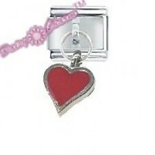 DAISY CHARM by JSC Dangle Italian Charm - RED HEART
