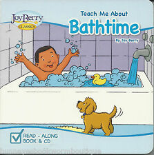 Teach Me About Bathtime NEW Board BOOK Read Along CD Joy Berry BATH TUB Songs