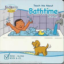 Teach Me About Bathtime NEW Board BOOK Read Along CD Joy Berry BATH TUB Songs