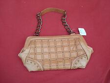 NWT Nordstrom Light Brown Genuine Leather Saddle Women's handbag bag purse