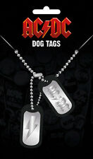AC/DC Dog Tags, NEW CARDED AND BAGGED Official Licensed Product