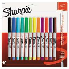 SHARPIE PERMANENT MARKERS ULTRA FINE POINT 12 COUNT ASSORTED COLORS 37175PP