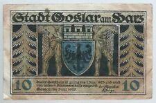 Notgeld -  Stadt Goslar - 10 Pfennig 1920