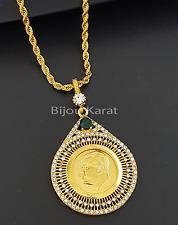 aatürk Chain 22 CARAT GOLD GP AlTiN KAPLAMA ceyrek Cumhuriyet ALTINI kolye