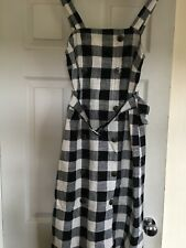 Ladies Check Summer Dress ,size 10/12