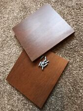 2 x Spare Shelves for IKEA CD DVD Case - Brown with Pegs (Benno and Billy)