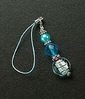 Silver Glass Bead Crystals Cell Phone Charms For Mobile Phone Free Shipping New