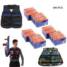 600x Bullets Darts+2 Tactical Vest Jacket for NERF N-Strike Elite Pistol Gun Toy