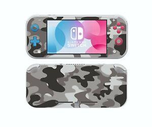 Nintendo Switch LITE GREY CAMO Sticker Game Skins Decals cover