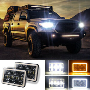 "2PCS 7"" Car SUV Off-road LED Work Light Angel Eye Aperture Flood Lamp Waterproof"
