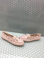 NIB Vionic HONOR VIRGINIA Pink Leather Slip On Moccasin Loafers Women's Size 9