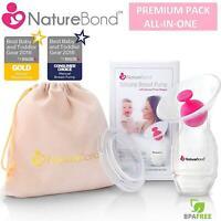 Naturebond Silicone Breastfeeding Manual Pump Milk Saver Suction Bonus Baby New