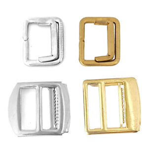 Adjustable slider buckle for 19mm wide waistcoat straps with or without teeth