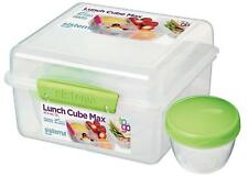 Sistema Lunch Cube With Compartments & Yoghurt Pot, 2 L Microwave Meal Food
