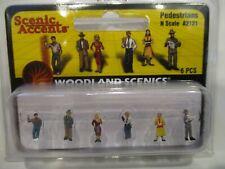 WOODLAND SCENICS N SCALE FIGURES - PEDESTRIANS