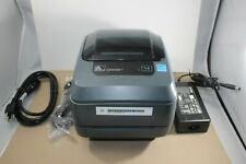 Zebra GX430t Thermal Label Barcode USB Printer 300dpi Parallel Serial POS - GOOD