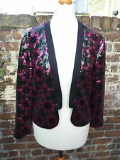 Asos Black / Pink Sequin Jacket Size 8