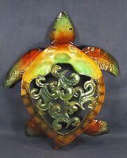 Sea Turtle metal w/ capiz finish nautical beach wall art home decor