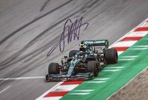 FORMULA ONE Sebastian Vettel ASTON MARTIN 2021 autograph, In-Person signed photo
