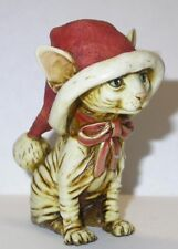 Harmony Kingdom artist Neil Eyre Designs Christmas Santa Sphynx kitten cat Le25