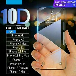 Tempered Glass SCREEN PROTECTOR iPhone 12,11 PRO MAX Mini X XR XS FULL COVER
