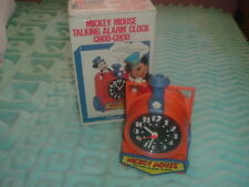 Collectible Disney Mickey Mouse Train Conductor Talking Alarm Clock,Box,Packing.
