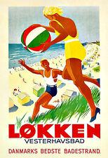 Art Ad LØKKEN  VESTERHAUSBAD  Travel Poster Print