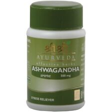 10X Sri Sri Ayurveda Ashwagandha Tablet For Stress Reliever Hike Stamina 60 Tabs