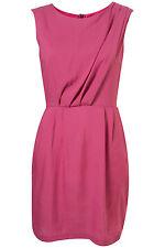 Topshop Violet Fuschia Tuck Neck Shift Dress Body con Tunic UK 10 EURO 38 US 6
