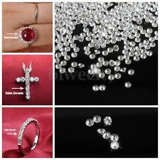 1000pcs AAA Clear White Crystal Loose Cubic Zirconia Stone 18g Round Shape