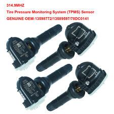 4pcs OEM GM TPMS Tire Pressure Sensor For Buick Chevy Cadillac 13589597 13598772
